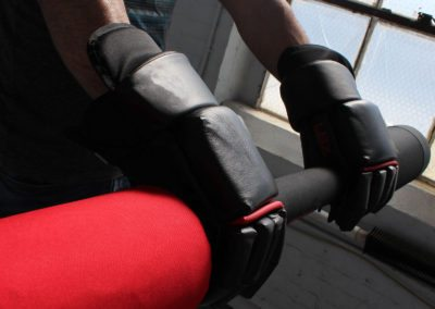 gloves and bar